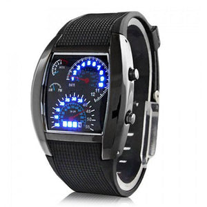 Mens Sports Speedometer Style Led Watch - Goamiroo Store