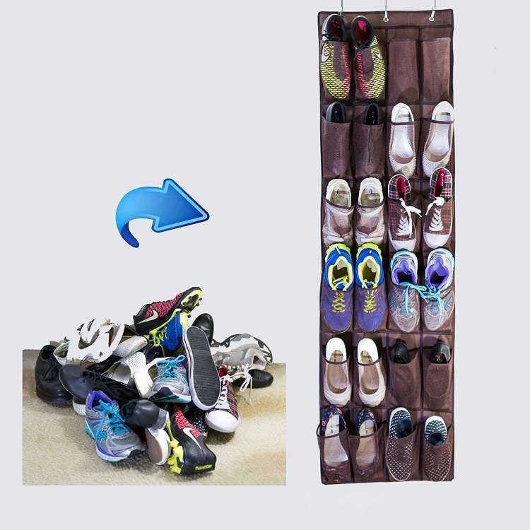 24 Pockets Over-the-Door Shoe Organizer-GoAmiroo Store