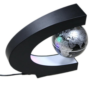 C Shape Floating Globe World Map Led Light - Goamiroo Store