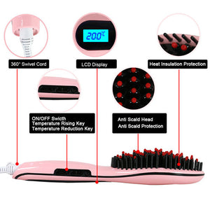 Hair Straightening Brush - Goamiroo Store