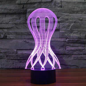 Jellyfish Pattern Colorful 3D Led Lamp - Goamiroo Store