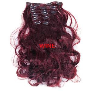 Seven-Piece Set Of Clip-On Hair Extensions In A Range Of Sizes And Colours - Goamiroo Store