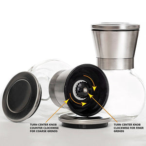 Round Body Salt And Pepper Grinder Setset Of 2) - Goamiroo Store