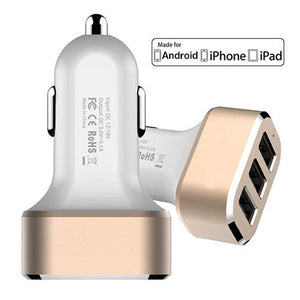 3 Port USB Car Charger-GoAmiroo Store