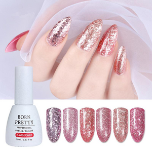 Rose Gold Series Nail Gel Polish 10Ml Shining Glitter Nude Soak Off Uv Gel Nail Art Gel Vanish - Goamiroo Store