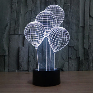 Balloon Pattern Colorful 3D Led Lamp - Goamiroo Store