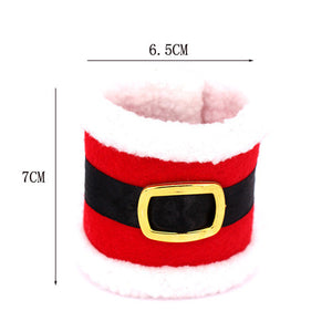 Set Of 4 Santas Napkin Bands - Goamiroo Store