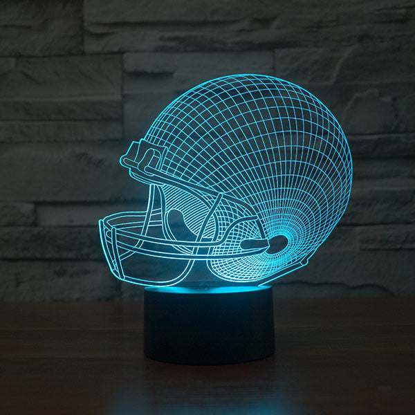 Football Cap Colorful 3D LED Lamp-GoAmiroo Store