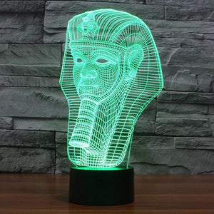 Pharaoh Pattern Colorful 3D Led Lamp - Goamiroo Store