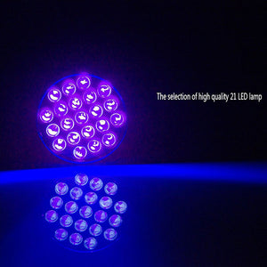 21 Led Uv Flashlight - Pets Urine Stains Detector - Goamiroo Store