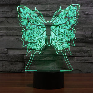 Butterfly Pattern Colorful 3D Led Lamp - Goamiroo Store