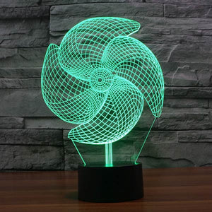 Pinwheel Pattern Colorful 3D Led Lamp - Goamiroo Store