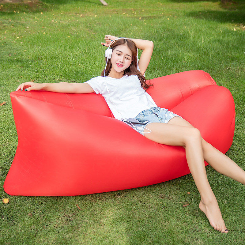 Fast Inflatable Lounger Air Sleep Camping Sofa-GoAmiroo Store