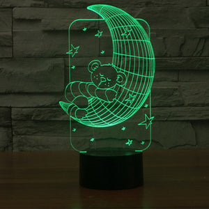 Moon Pattern Colorful 3D Led Lamp - Goamiroo Store