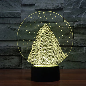 Snow Mountain Colorful 3D Led Lamp - Goamiroo Store