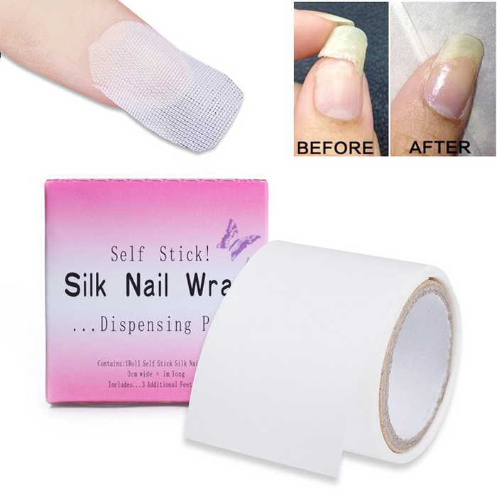Adhesive Silk Nail Protector Wrap Fiberglass Reinforce Tools 3*100cm White UV Gel Acrylic