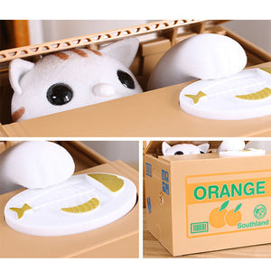 Stealing Coin Cat Bank - Goamiroo Store