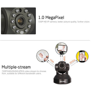 Escam Pearl Qf100 1Mp Wi-Fi Security Ip Camera - Goamiroo Store