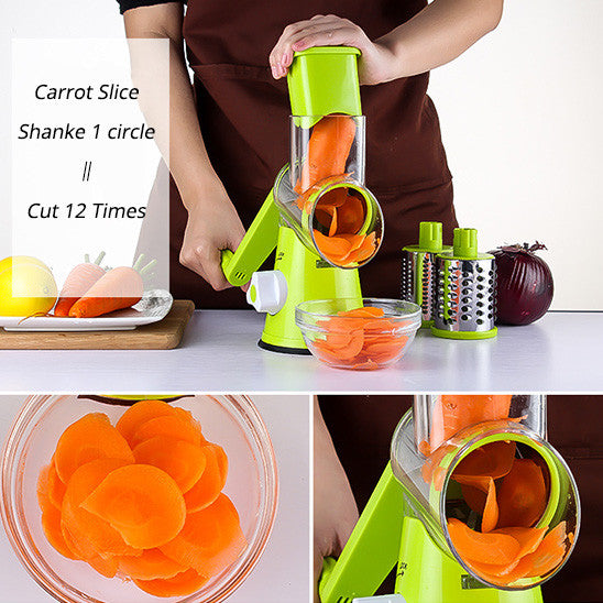 3 in 1 Round Mandoline Vegetable Slicer Cutter-GoAmiroo Store