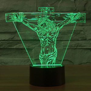 Jesus Suffering Colorful 3D Led Lamp - Goamiroo Store