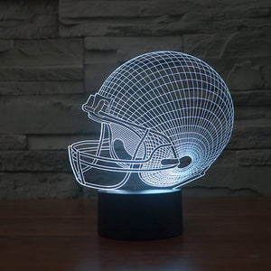 Football Cap Colorful 3D Led Lamp - Goamiroo Store