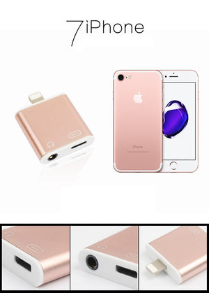 2in1 charge Lighting 3.5mm earphone Converter Adapter for iphone 7-GoAmiroo Store