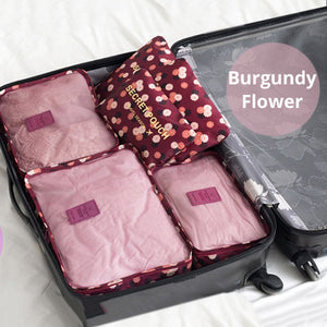 New Flower Style 6Pcs Travel Luggage Organiser - Goamiroo Store