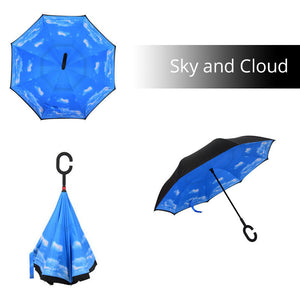 Convenient Umbrella 2-Layer Reversible With C-Handle - Goamiroo Store