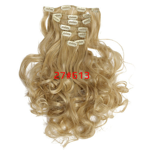 Seven-Piece Set of Clip-On Hair Extensions in a Range of Sizes and Colours-GoAmiroo Store