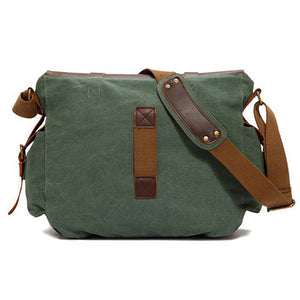 Genuine Leather Canvas Messenger Bag - 4 Styles - Goamiroo Store