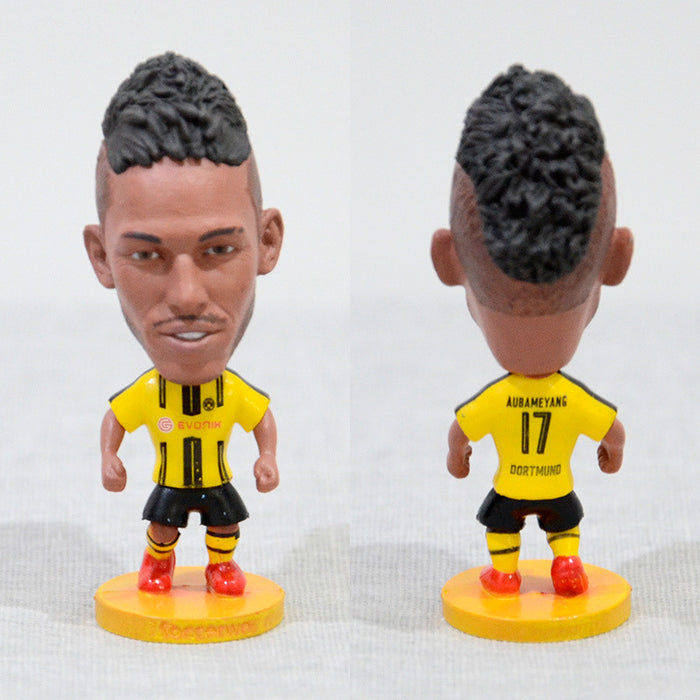 Football Player Aubameyang #17 Dortmund 2.5inch Action Figure