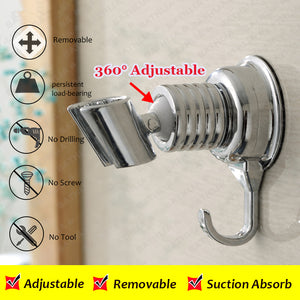 Adjustable Elegant Sucker Shower Head Stand Bracket Holder - Goamiroo Store