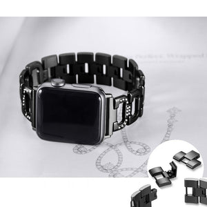 Unique D-Link Fashion Jewelry Design Bands for Apple Watch Bling Band Compatible iWatch 4 Band 38mm 40mm Diamond Rhinestone