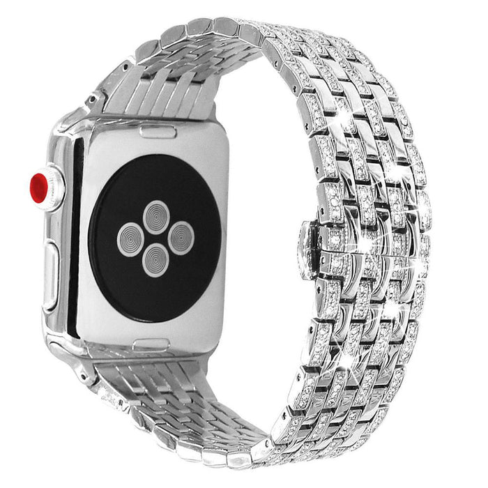 Diamond Bands For Apple Watch, Rhinestone Luxury Diamond Stainless Steel Replacement Bracelet For Women For Iwatch 40mm 38mm