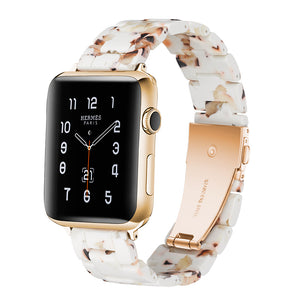 Italian Resin Band for iWatch 44MM/42MM For Apple Watch 40mm 38mm Bracelet Wrist Ceramic Strap Apple Watch Watchband 18 colors