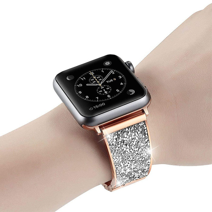 Luxury Diamond strap For Apple Watch band 40mm 38mm bracelet strap Bling Czech stone Women Lady Watchband for iwatch series 4
