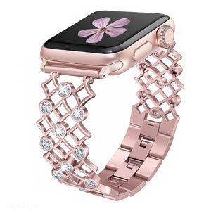 Bling Star-Link Bands Compatible Apple Watch Series 4 40mm Series 3/2/1 38mm Iwatch Replacement Stainless Steel Wristband Women