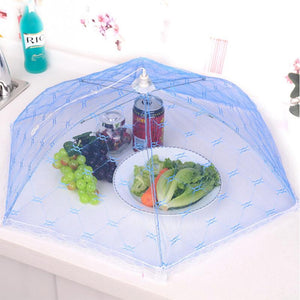 NEW 50CM Household Gauze Food Cover Umbrella Style Picnic Anti Fly Mosquito Tent Meal Cover Table Mesh Cover Kitchen Accessories