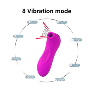 Sucking Nipple Vibrators 8 Speeds G spot Clit Stimulation  Female Silicone Sucker dildo Erotic Licking Sex Adult For Women