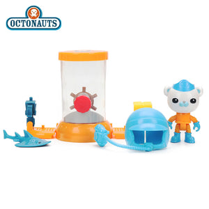 Octonauts Action Figures Set Barnacles' Octopoo Steering Deck Kwazii&the Octobot Station Shellington & the Swell Shark Playset