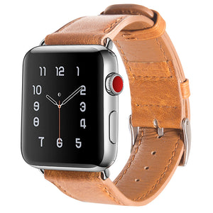 Genuine Leather Strap Nostalgic Style Burst Crack Grain Bracelet Watchband For Apple Watch Series 1/2 Series3 38/42Mm Thormax - Goamiroo