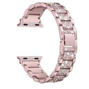 Bling Bands Compatible Apple Watch Band 38mm 40mm Metal Replacement Wristband Compatible Iwatch Series 4 3 2 1 Rose Gold Dress