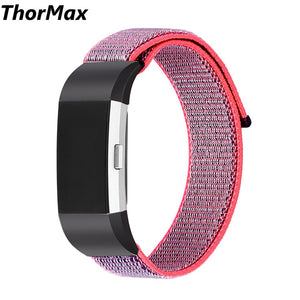 Thormax New Nylon Sport Loop Band With Hook Fastener Adjustable Classical Wrist Strap Replacement Band For Fitbit Charge 2 - Goamiroo Store