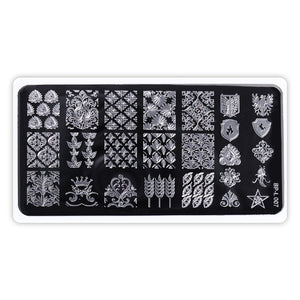 Nail Stamping Plates Lace Flower Animal Pattern Nail Art Stamp Stamping Template Image Plate Stencil - Goamiroo Store