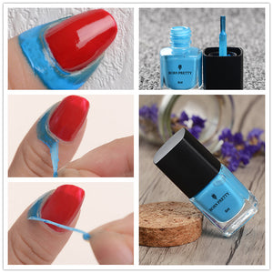Blue Liquid Tape & Peel Off 6Ml Base Coat Easy Clean Care Nail Polish Nail Art Liquid Palisade - Goamiroo Store