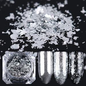 Silver Gold Flakes Nail Aluminum Sequins 0.2G Bling Mirror Nail Glitters Powder Paillettes Diy - Goamiroo Store