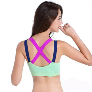 Sexy Women Shockproof Running Vest Quick Dry Push Up Padded Sports Bras - Goamiroo Store