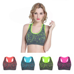 Professional Women Running Vest Shockproof Padded Sports Running Bra - Goamiroo Store