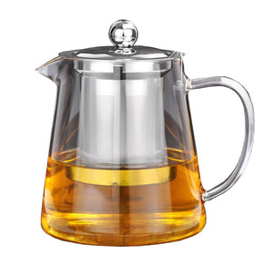 5 Sizes Clear Borosilicate Glass Teapot With 304 Stainless Steel Infuser Strainer-GoAmiroo Store