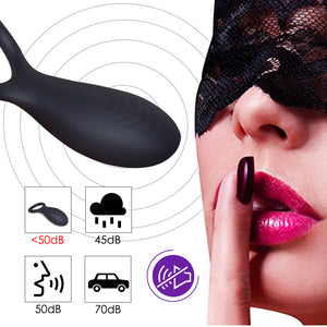 Vibrating Cock Ring Delay Ejaculation Penis Ring Clitoris Stimulator Silicone Sex Toys For Men Or Couples Sex Ring Vibrator - Goamiroo Store